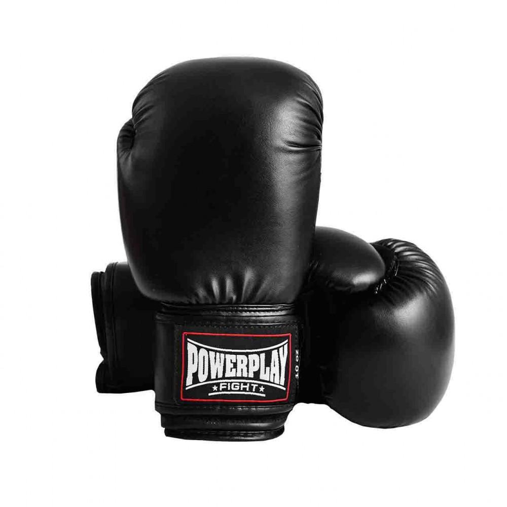 Боксерские Перчатки PowerPlay 3004 Черные 10 Унций