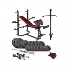 Набор Premium 60 кг с лавой HS-1065 и партой Скотта и тягой