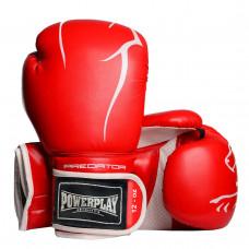 Боксерские перчатки PowerPlay 3018 Красные 14 унций