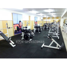 Набор резинового покрытия №5 для домашнего спортзала 20 кв. метра, 20 мм толщина.