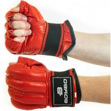 Шингарты перчатки без пальцев BoyBo (кожа) р.L, красн SF14-33-4