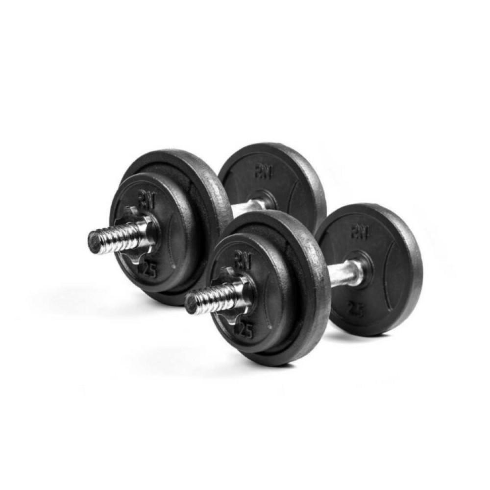 Гантели чугунные RN-Sport 2 шт по 8,5 кг