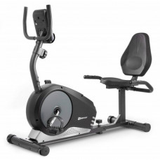 Горизонтальный велотренажер HS-040L Root black / silver / grey - model 2020