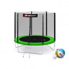Батут Hop-Sport 8ft (244cm) green с внешней сетью