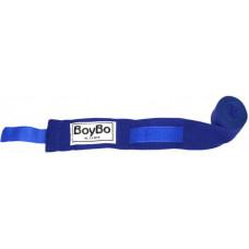 Бинты боксёрские BOYBO эластик Синие 2,5 метра