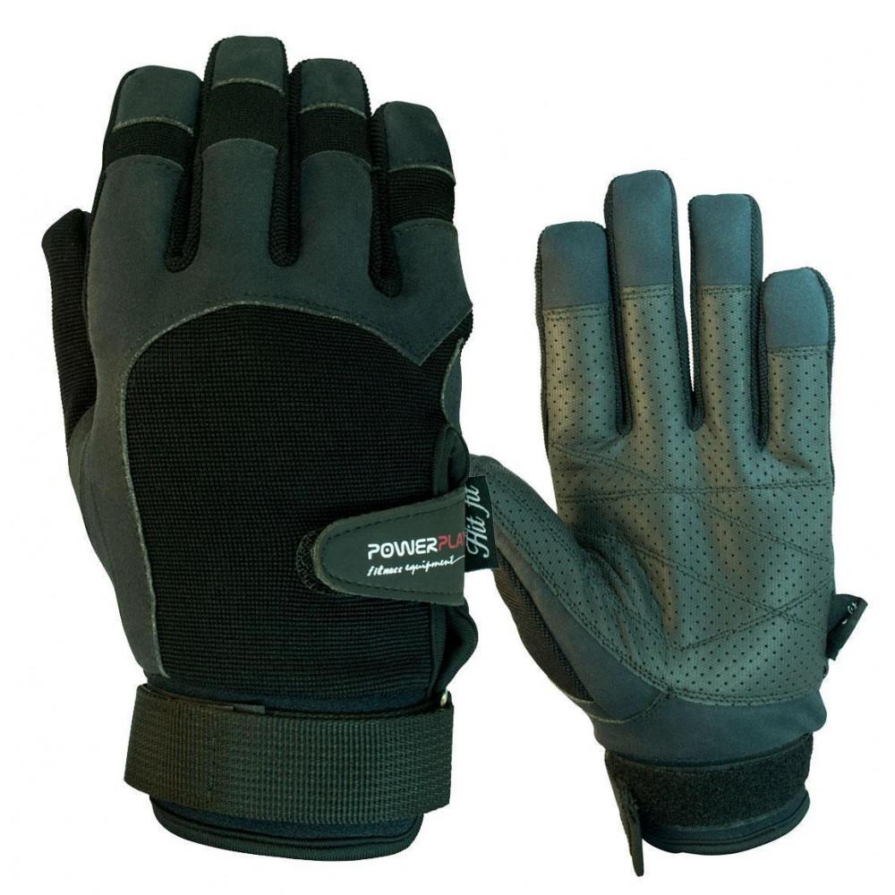 Перчатки для Кроссфит PowerPlay 2076 Черные S