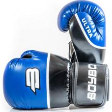 Боксерские перчатки BoyBo Ultra к/з 10 OZ син. SF5-44-10