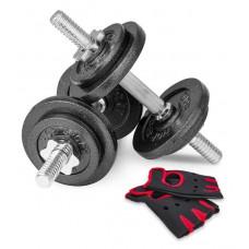 Гантели Hop-Sport NEW 2 шт по 10 кг + перчатки