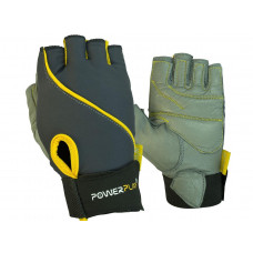 Перчатки для фитнеса PowerPlay 1725 B женские серо-желтый XS