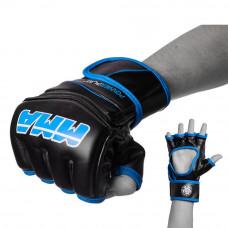 Перчатки для MMA PowerPlay 3055 Черно-Синие XL