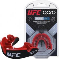 Капа OPRO Junior Silver UFC Hologram Black / Red (art.002265002)