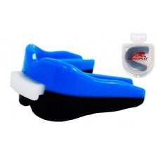 Капа боксерская PowerPlay 3313 SR Черно-Синяя