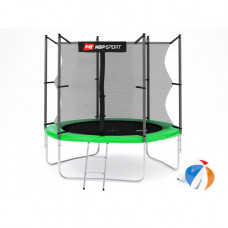Батут Hop-Sport 8ft (244cm) green с внутренней сеткой