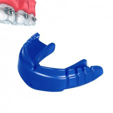 Капа OPRO Snap-Fit FOR BRACES Electric Blue + Strap (art.002318003)