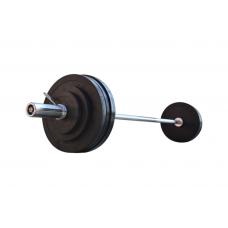 Штанга RN Sport обрезиненная 105 кг