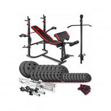 Набор Premium 94 кг с лавой HS-1065 и партой Скотта и тягой