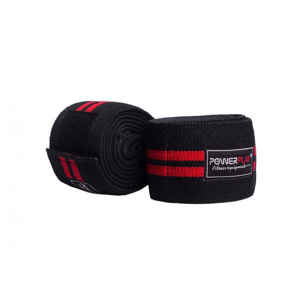 Бинты для коленей PowerPlay 2509 Черно-красные