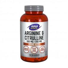Arginine & Citrulline 500 mg/250 mg (240 veg caps)