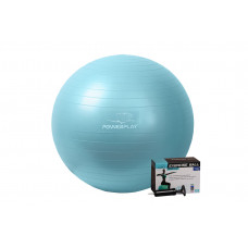 Мяч для фитнеса PowerPlay 4001 65см Мятный + насос