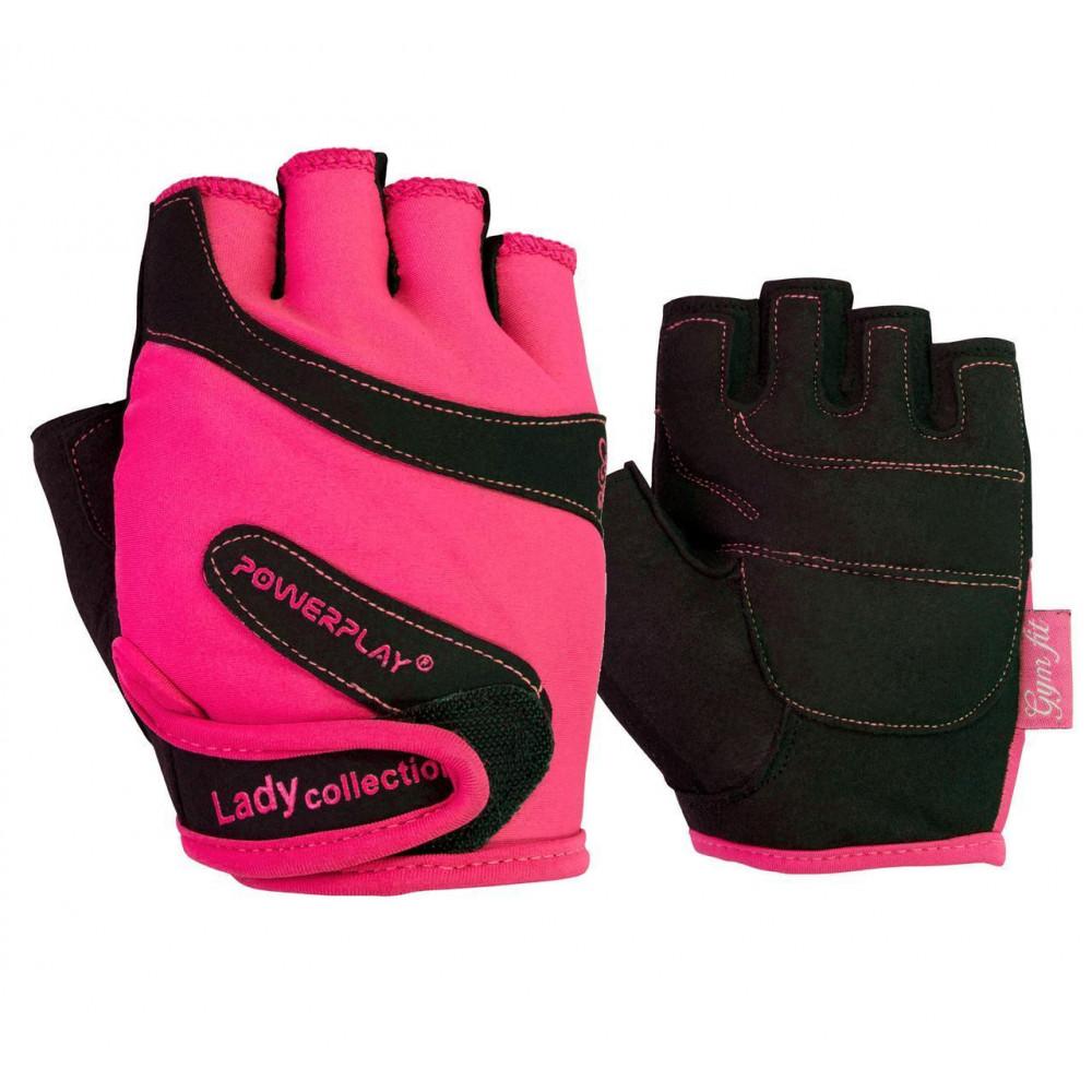 Перчатки для фитнеса PowerPlay 1729 женский Розовые XS