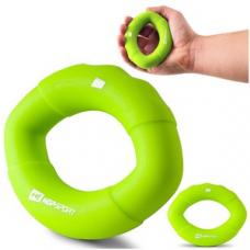 Еспандер силіконовий овальний 13,6 кг Hop-Sport HS-S013OG зелений