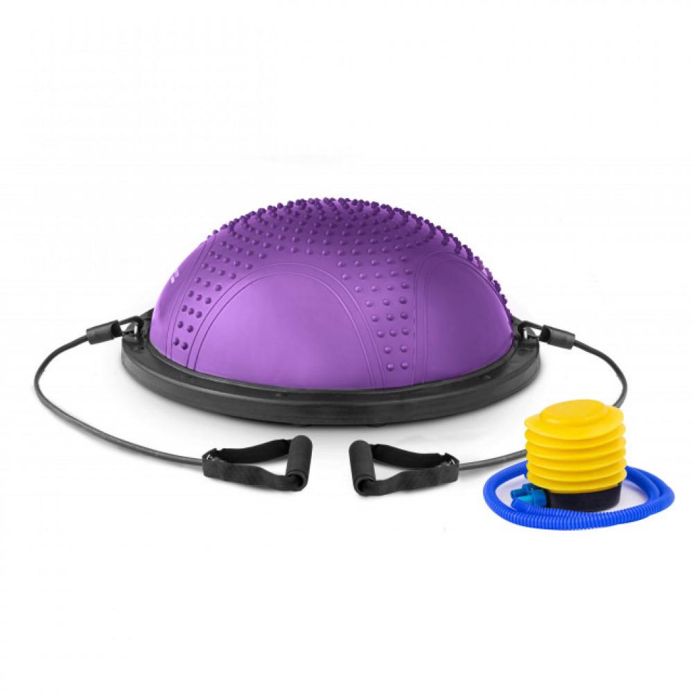 Балансировочная платформа с вкраплениями Bosu фиолетовая