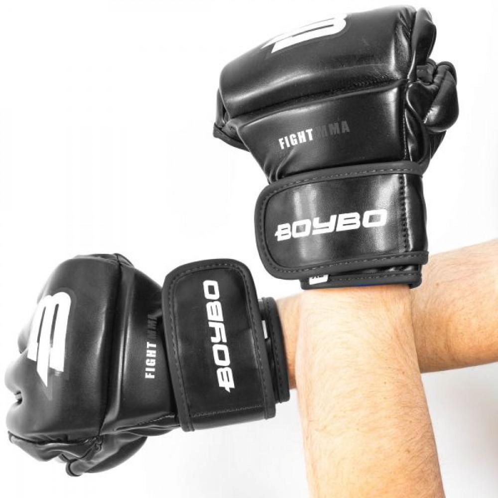 Перчатки ММА BoyBo Challenger Flex черные S SF12-75-2