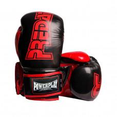 Боксерские Перчатки PowerPlay 3017 Черные Карбон 12 Унций