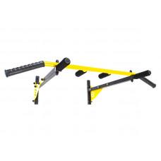 Турник настенный Besport BS-T0204 с 6 ручками желтый