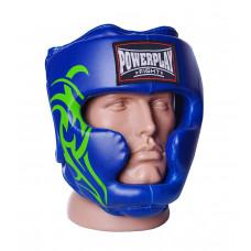 Боксерский шлем тренировочный PowerPlay 3043 L Синий
