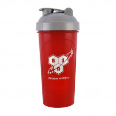 Shaker BSN with metall ball (700 ml, red/grey)
