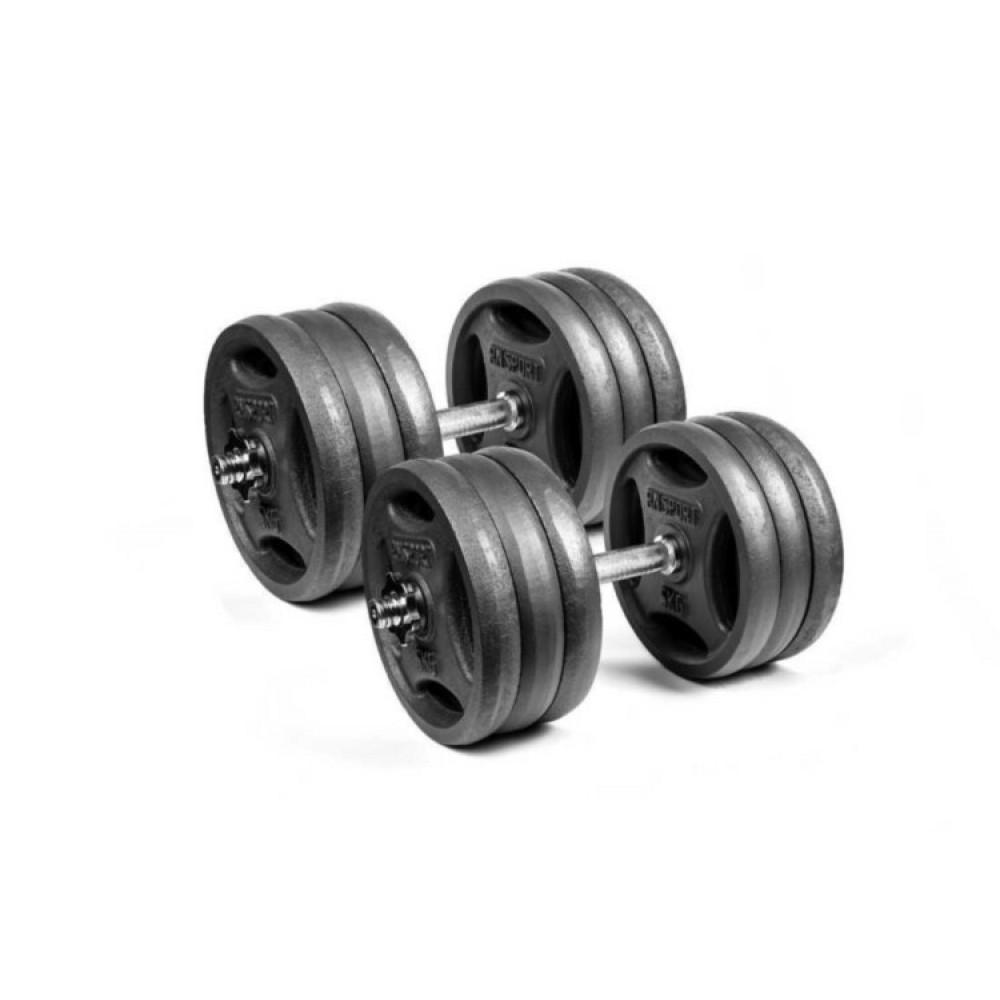Гантели чугунные RN-Sport 2 шт по 31 кг