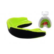 Капа боксерская PowerPlay 3314 JR Зелено-Черная