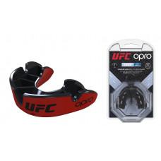 Капа OPRO Junior Silver UFC Hologram Red / Black (art.002265001)