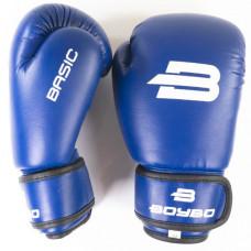 Боксерские перчатки BoyBo Basic к/з 10 OZ син. SF1-44-10
