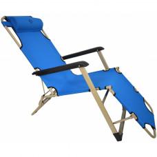 Шезлонг лежак Bonro 180 см голубой
