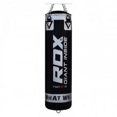 Боксерский мешок RDX Leather Black 1.2м, 40-50кг