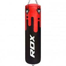 Боксерский мешок RDX Leather Black/Red 1.5м, 45-55кг