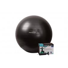 Мяч для фитнеса PowerPlay 4001 65см Черный + насос
