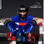 Боксерские Перчатки PowerPlay 3017 Синие Карбон 12 Унций