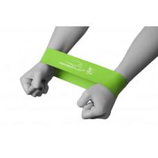 Фитнес резинка PowerPlay 4114 Medium light Зеленая
