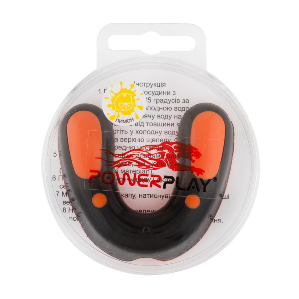 Капа боксерская PowerPlay 3315 SR Оранжево-Черная LEMON