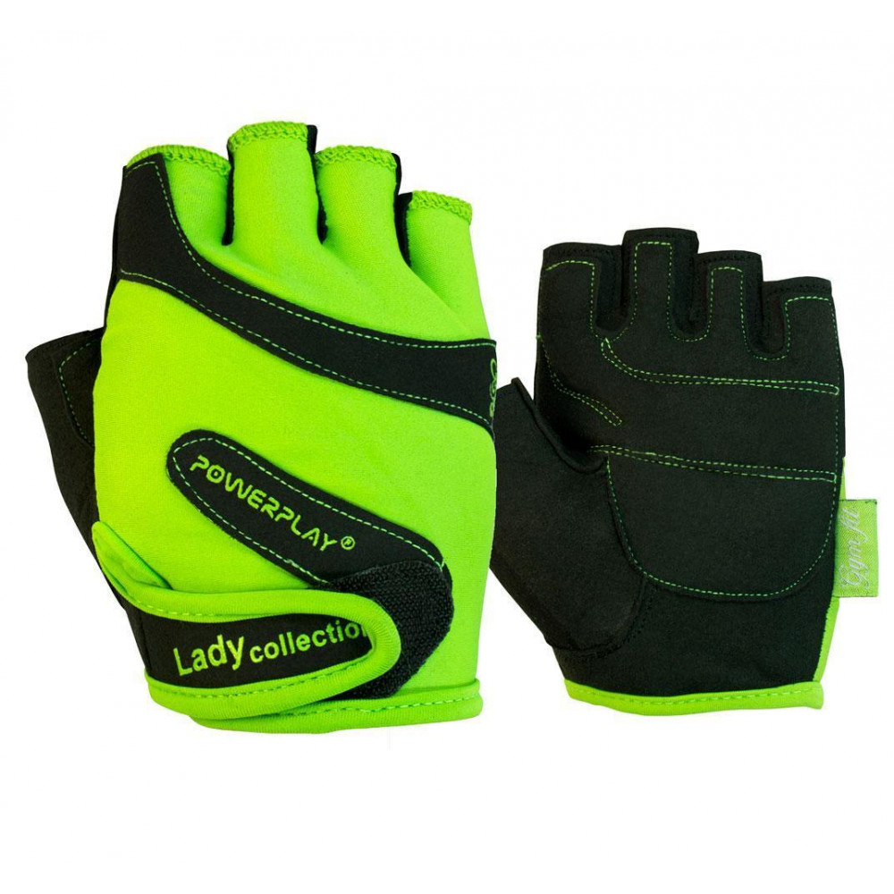 Перчатки для фитнеса PowerPlay 1729 B женские Салатовые XS