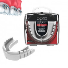 Капа OPRO Snap-Fit FOR BRACES White (art.002318004)