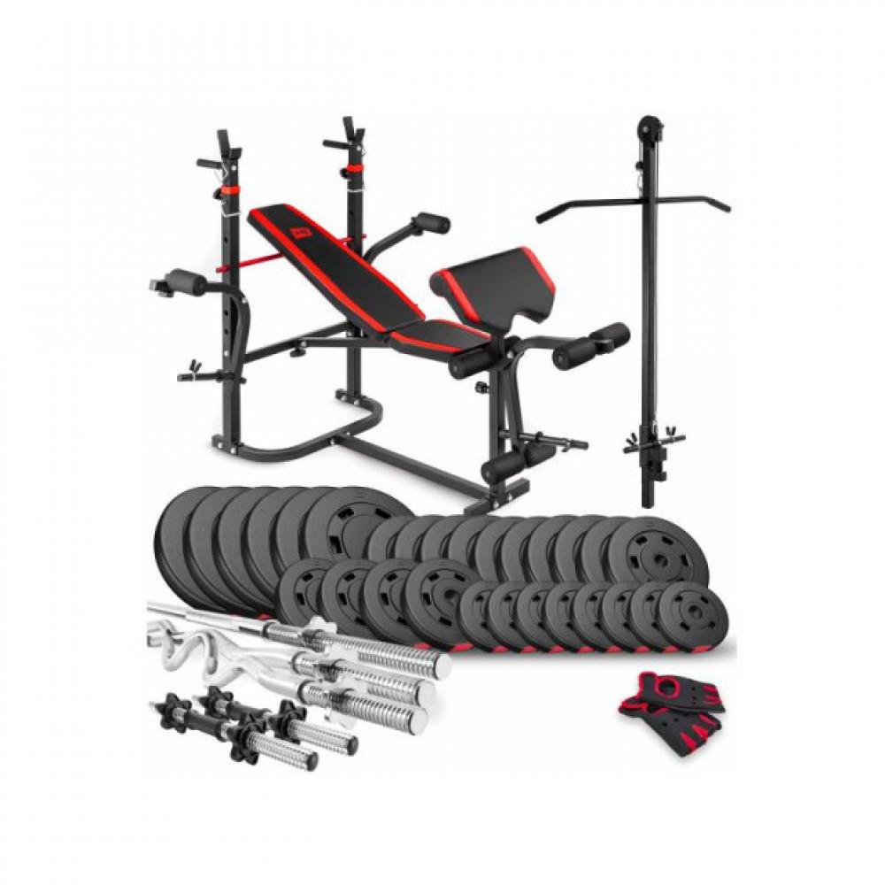 Набор Premium 160 кг с лавой HS-1065 и партой Скотта
