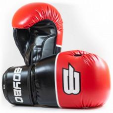 Боксерские перчатки BoyBo Ultra кож.зам. красные 14 унций