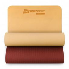 Мат для фитнеса TPE 0,6 см HS-T006GM оранжево-красный