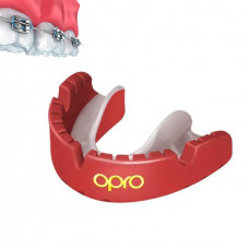 Капа OPRO Gold Braces Red / Pearl (art.002227008)