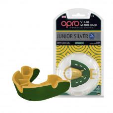 Капа OPRO Junior Silver Green / Gold (art.002190003)