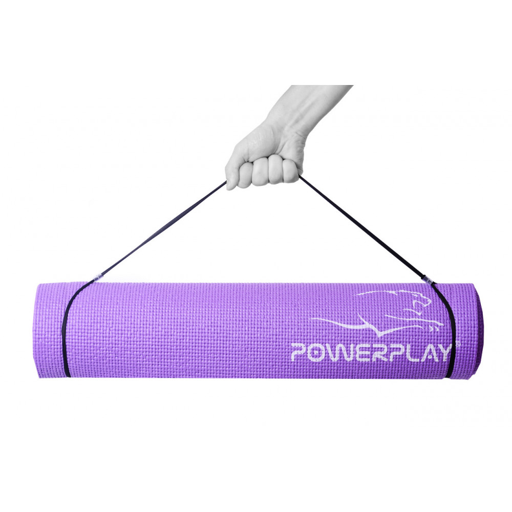Коврик для фитнеса и йоги PowerPlay 4010 фиолетовый